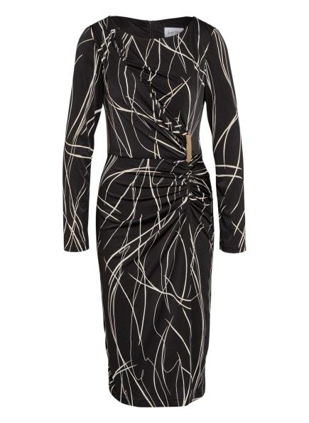 Joseph Ribkoff Kleid in Wickeloptik, Farbe: SCHWARZ/ WEISS/ GOLD (Bild 1)