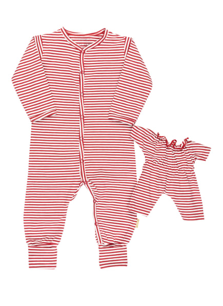HUST and CLAIRE Strampler ISA mit Puppenanzug , Farbe: DUNKELROT/ WEISS (Bild 1)