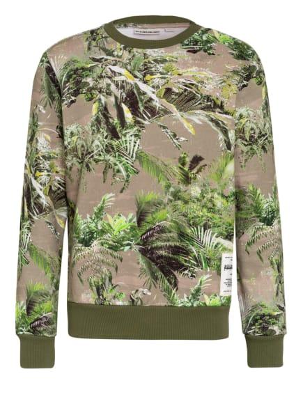 NAPAPIJRI Sweatshirt BARIO, Farbe: DUNKELGRÜN/ HELLGRÜN/ WEISS (Bild 1)