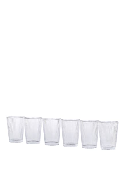 stelton 6er-Set Trinkgläser PILASTRO, Farbe: TRANSPARENT (Bild 1)