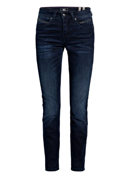 MAC Flared Jeans RICH mit Nietenbesatz , Farbe: D870 dark blue used (Bild 1)