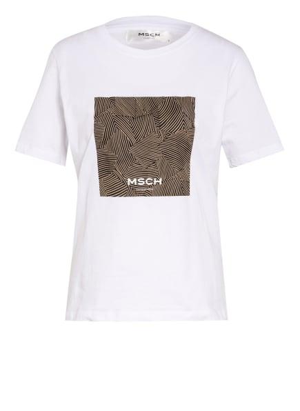 MOSS COPENHAGEN T-Shirt , Farbe: WEISS/ SCHWARZ/ BEIGE (Bild 1)