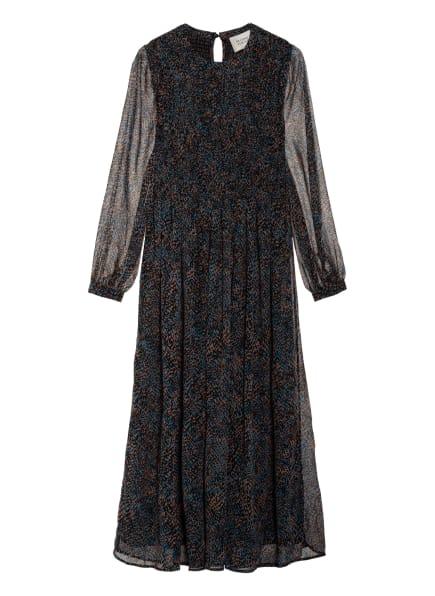 SECOND FEMALE Kleid MOVEMENT, Farbe: SCHWARZ/ LACHS/ HELLBLAU (Bild 1)