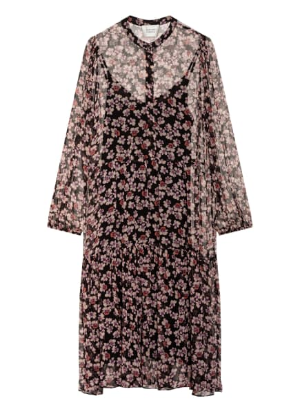 SECOND FEMALE Kleid FLEURIR, Farbe: SCHWARZ/ LILA/ HELLROSA (Bild 1)