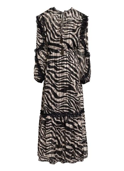 summum woman Kleid mit Spitzenbesatz, Farbe: SCHWARZ/ CREME (Bild 1)