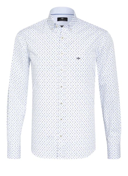 FYNCH-HATTON Hemd Casual Fit, Farbe: WEISS/ BLAU/ GRÜN (Bild 1)