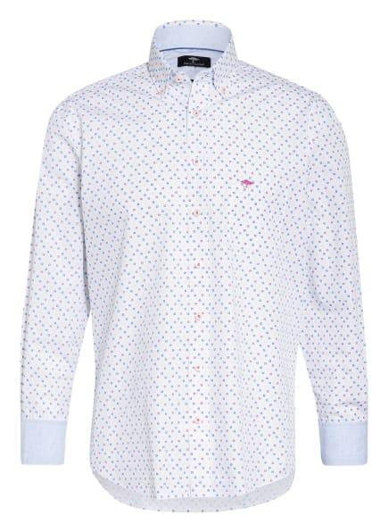 FYNCH-HATTON Hemd Casual Fit, Farbe: WEISS/ BLAU/ GELB (Bild 1)