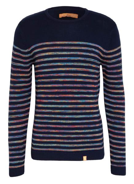 COLOURS & SONS Pullover DANIEL, Farbe: DUNKELBLAU/ DUNKELGELB/ ORANGE (Bild 1)
