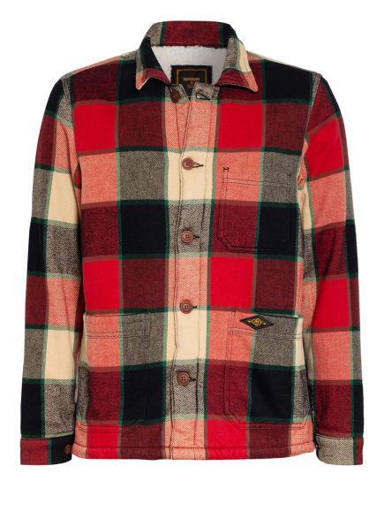 Superdry Overjacket, Farbe: ROT/ CAMEL/ DUNKELBLAU (Bild 1)