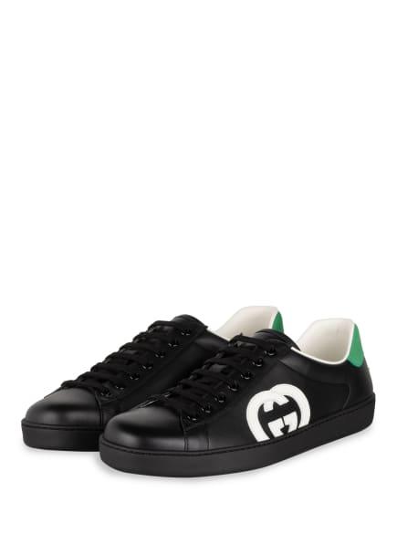 GUCCI Sneaker ACE , Farbe: 1103 NERO/BIANCO/N.SHAMAR (Bild 1)