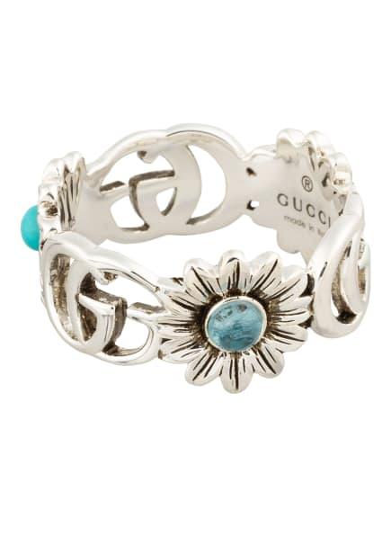 GUCCI Ring GG MARMONT, Farbe: SILBER/ TÜRKIS (Bild 1)