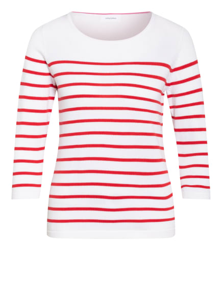 darling harbour Pullover mit 3/4-Arm , Farbe: WEISS/ ROT (Bild 1)