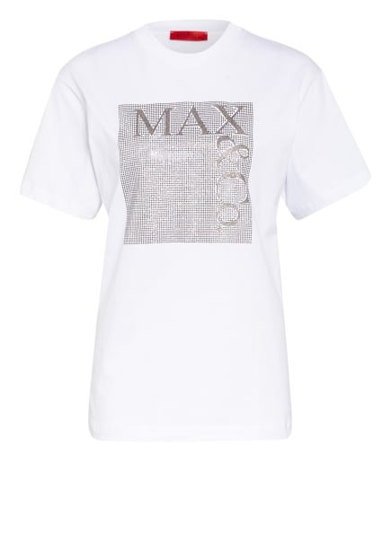 MAX & Co. T-Shirt mit Schmucksteinbesatz, Farbe: WEISS (Bild 1)