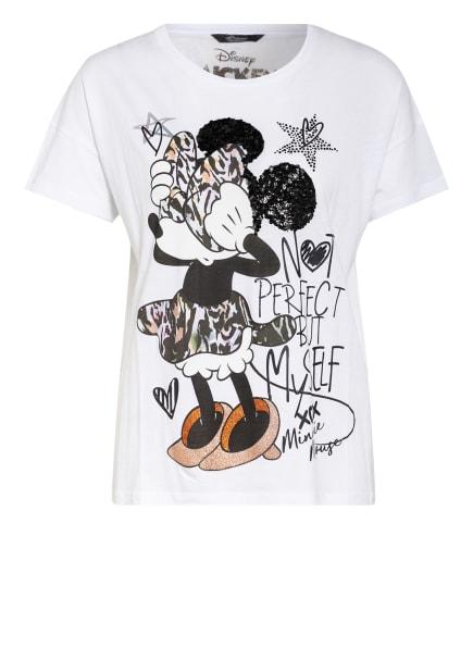 Princess GOES HOLLYWOOD T-Shirt mit Paillettenbesatz, Farbe: WEISS (Bild 1)