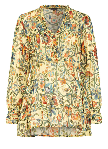 Princess GOES HOLLYWOOD Blusenshirt mit Rüschenbesatz, Farbe: GELB/ GRÜN/ ORANGE (Bild 1)