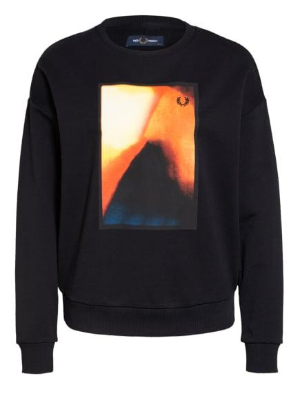FRED PERRY Sweatshirt , Farbe: SCHWARZ/ ORANGE/ HELLGELB (Bild 1)