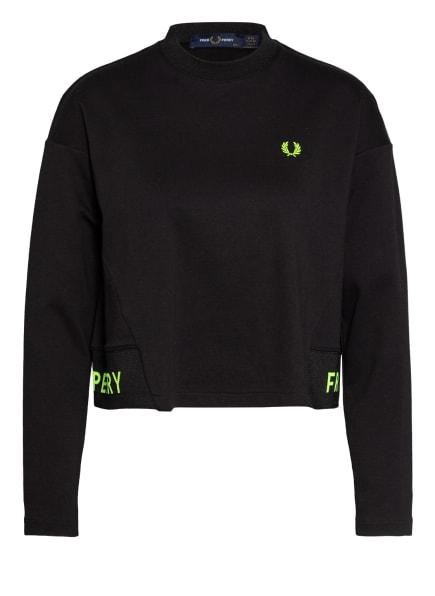 FRED PERRY Cropped-Sweatshirt , Farbe: SCHWARZ (Bild 1)