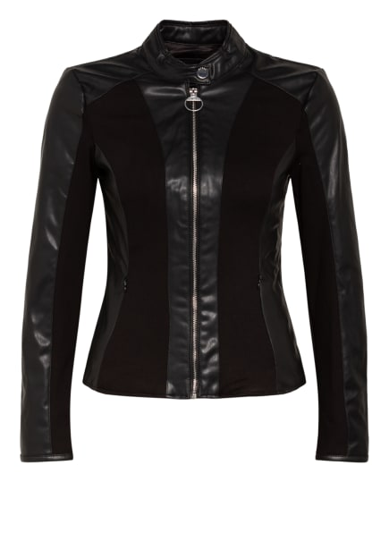 GUESS Jacke CLOTILDE im Materialmix, Farbe: SCHWARZ (Bild 1)