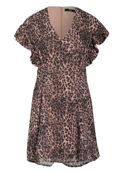 GUESS Kleid AYAR mit Volantbesatz, Farbe: SCHWARZ/ BEIGE (Bild 1)