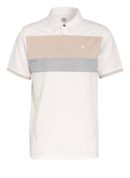 BOGNER Piqué-Poloshirt LAGOS, Farbe: WEISS/ BEIGE/ GRAU (Bild 1)