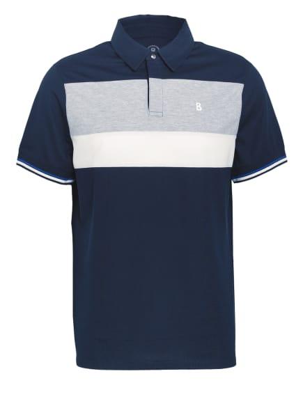 BOGNER Piqué-Poloshirt LAGOS, Farbe: DUNKELBLAU/ GRAU/ WEISS (Bild 1)