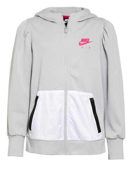 Nike Trainingsjacke AIR, Farbe: HELLGRAU/ PINK/ WEISS (Bild 1)