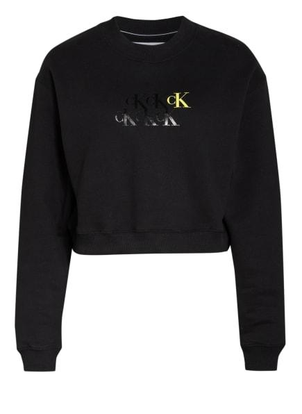 Calvin Klein Jeans Cropped-Sweatshirt, Farbe: SCHWARZ (Bild 1)