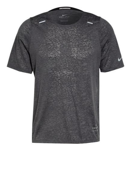Nike Laufshirt RISE 365 RUN DIVISION, Farbe: DUNKELGRAU (Bild 1)