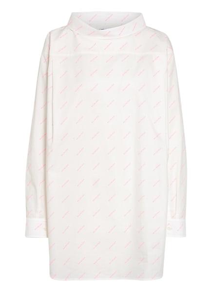 BALENCIAGA Oversized-Bluse , Farbe: WEISS/ ROSA (Bild 1)