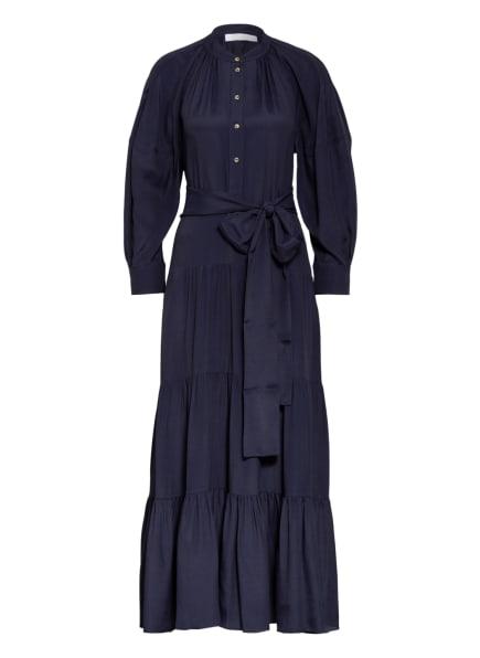Chloé Kleid mit Seide, Farbe: DUNKELBLAU (Bild 1)