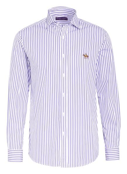 RALPH LAUREN PURPLE LABEL Hemd ASTON Regular Fit, Farbe: WEISS/ LILA (Bild 1)