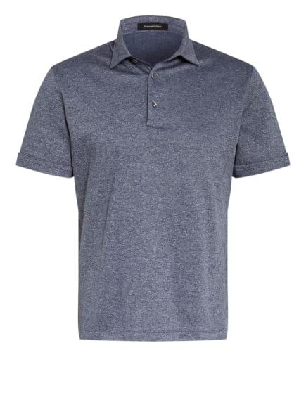 Ermenegildo Zegna Piqué-Poloshirt, Farbe: DUNKELBLAU/ WEISS (Bild 1)