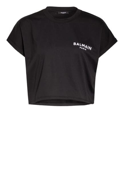 BALMAIN Cropped-Shirt, Farbe: SCHWARZ/ WEISS (Bild 1)
