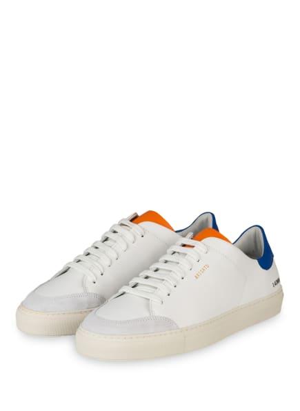 AXEL ARIGATO Sneaker CLEAN 90 TRIPLE, Farbe: WEISS/ BLAU/ ORANGE (Bild 1)