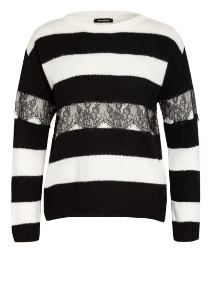 MORE & MORE Pullover mit Spitzenbesatz , Farbe: SCHWARZ/ WEISS (Bild 1)