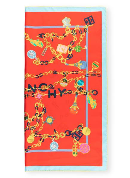 GIVENCHY Seidentuch, Farbe: ROT/ HELLBLAU (Bild 1)