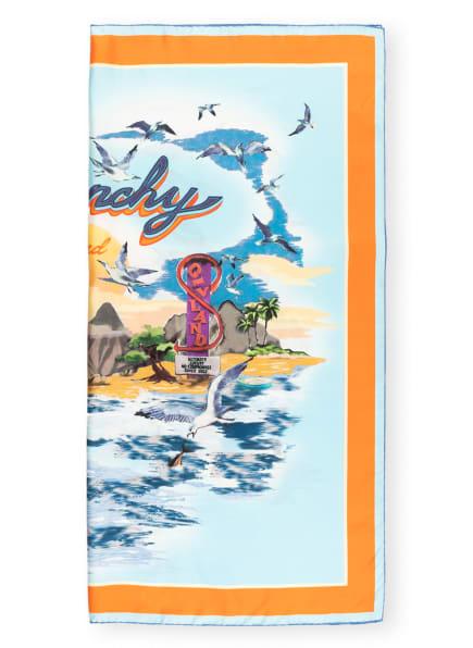 GIVENCHY Seidentuch, Farbe: HELLBLAU/ ORANGE (Bild 1)