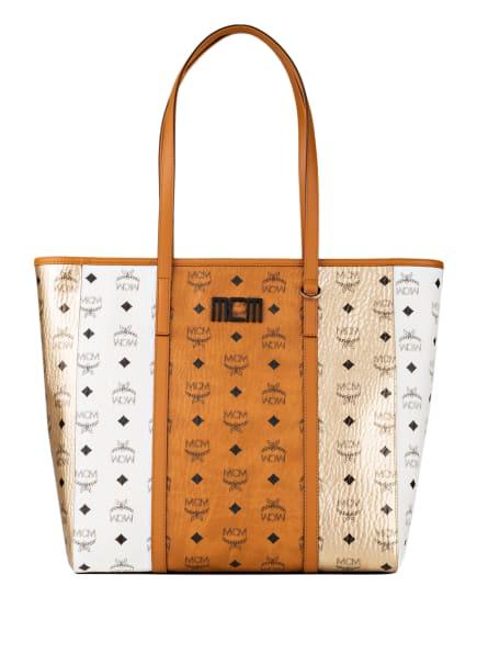 MCM Shopper, Farbe: COGNAC/ WEISS/ GOLD (Bild 1)