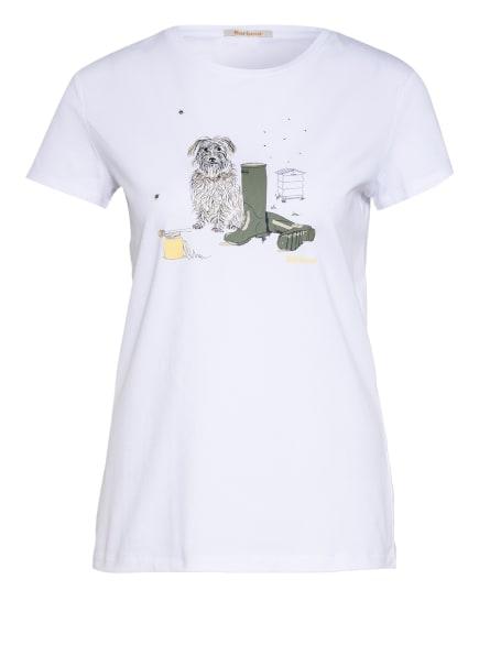 Barbour T-Shirt ROWEN, Farbe: WEISS (Bild 1)