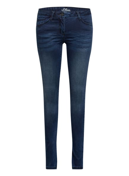 s.Oliver RED Jeans SURI Slim Fit, Farbe: BLAU (Bild 1)