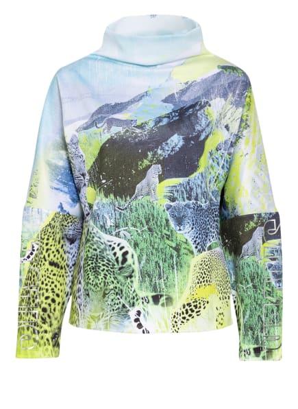 SPORTALM Oversized-Sweatshirt, Farbe: TÜRKIS/ SCHWARZ/ GRÜN (Bild 1)