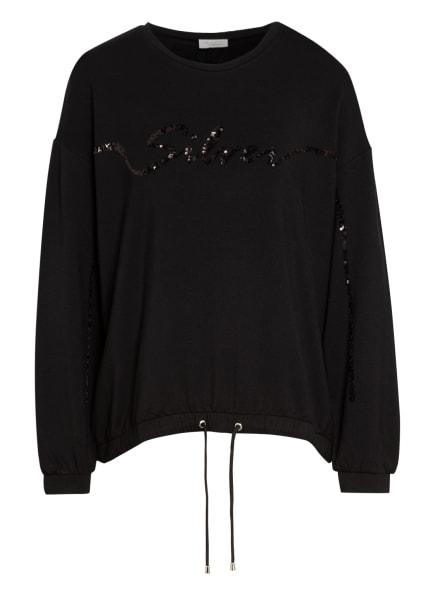 SPORTALM Sweatshirt mit Paillettenbesatz, Farbe: SCHWARZ (Bild 1)