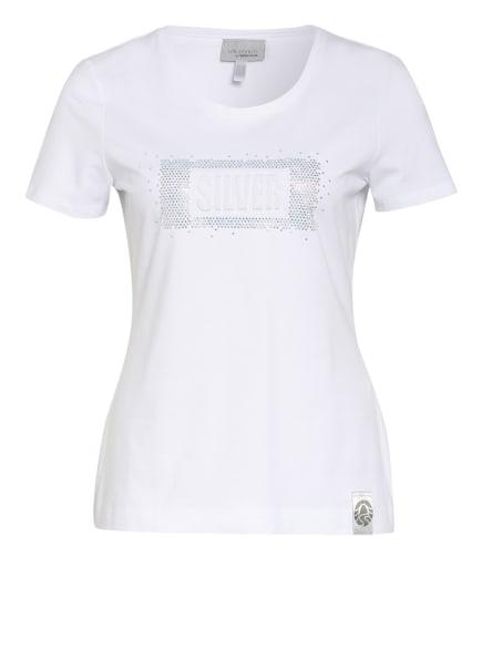 SPORTALM T-Shirt mit Schmucksteinbesatz, Farbe: WEISS (Bild 1)