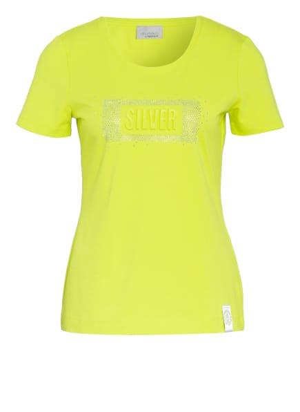 SPORTALM T-Shirt mit Schmucksteinbesatz, Farbe: GELB (Bild 1)