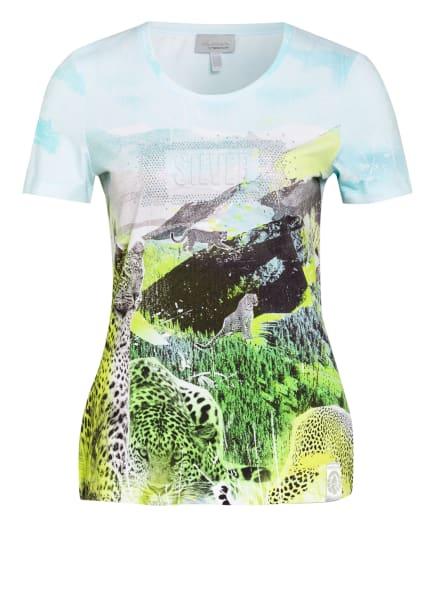SPORTALM T-Shirt mit Schmucksteinbesatz, Farbe: WEISS/ TÜRKIS/ NEONGRÜN (Bild 1)