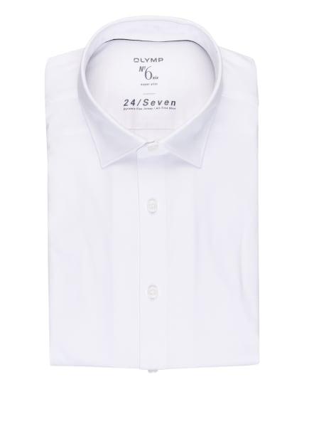 OLYMP Jerseyhemd No. Six 24/7 super slim, Farbe: WEISS (Bild 1)