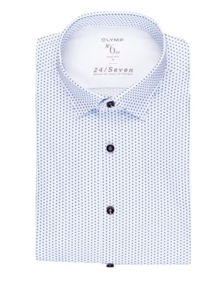 OLYMP Jerseyhemd No. Six 24/7 super slim, Farbe: WEISS/ HELLBLAU/ DUNKELBLAU (Bild 1)