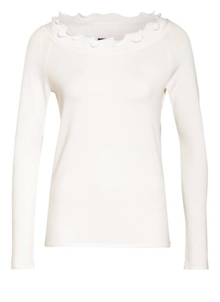 s.Oliver BLACK LABEL Pullover mit Rüschenbesatz, Farbe: WEISS (Bild 1)