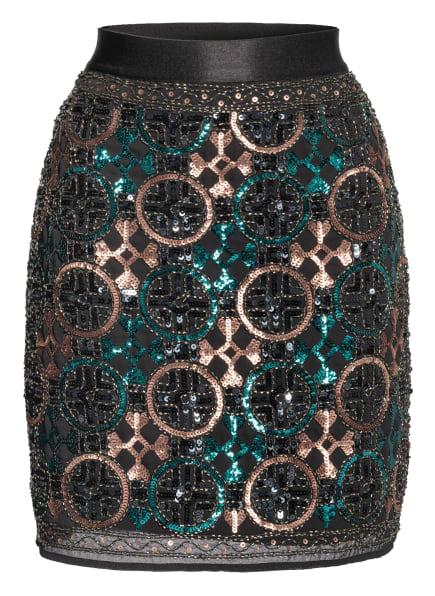 s.Oliver BLACK LABEL Rock mit Paillettenbesatz , Farbe: SCHWARZ/ PETROL/ ROSÉGOLD (Bild 1)