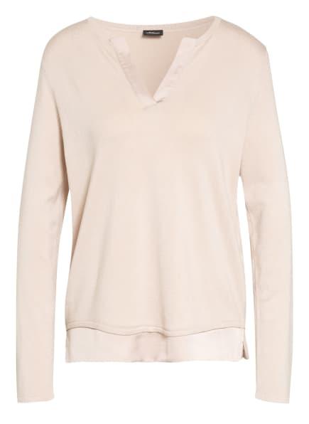 s.Oliver BLACK LABEL Pullover mit Blusensaum, Farbe: CREME (Bild 1)